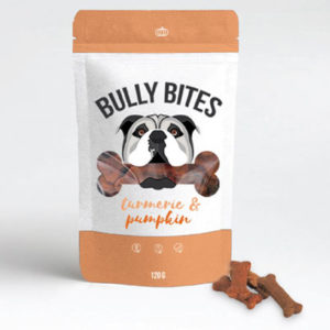 Bully Bits Turmeric & Pumpkin CBD treats for Dogs by Miss Envy product image
