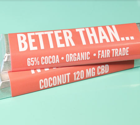 coconut CBD chocolate bar by Miss Envy product image