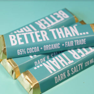 Dark & Salty CBD chocolate bar by Miss Envy product image