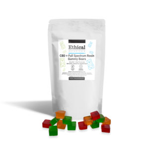 CBD + THC Full Spectrum Rosin gummies by Ethical Botanicals