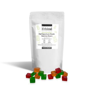 visualize packaging for full spectrum rosin thc gummies