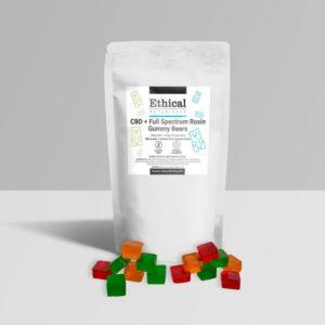 visalizes full spectrum rosin + cbd gummy packaging
