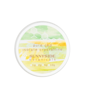 visualizes packaging for pure cbd isolate by sunnyside botanicals