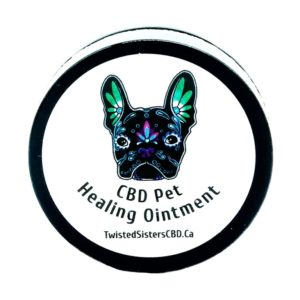 Visualize packaging for Sisters CBD pet healing ointment