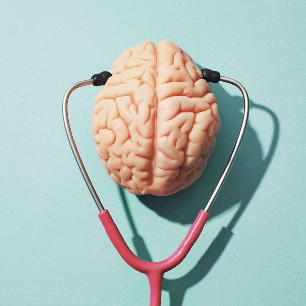 cbd as preventative medicine article image depicting brain health with stylish image of brain and stethoscope