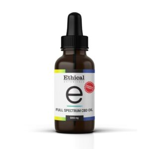 visualize bottle of full spectrum cbd oil 5000mg by ethical botanicals