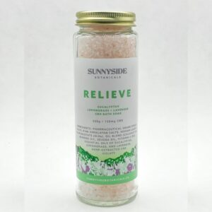 Relieve bath soak by Sunnyside Botanicals