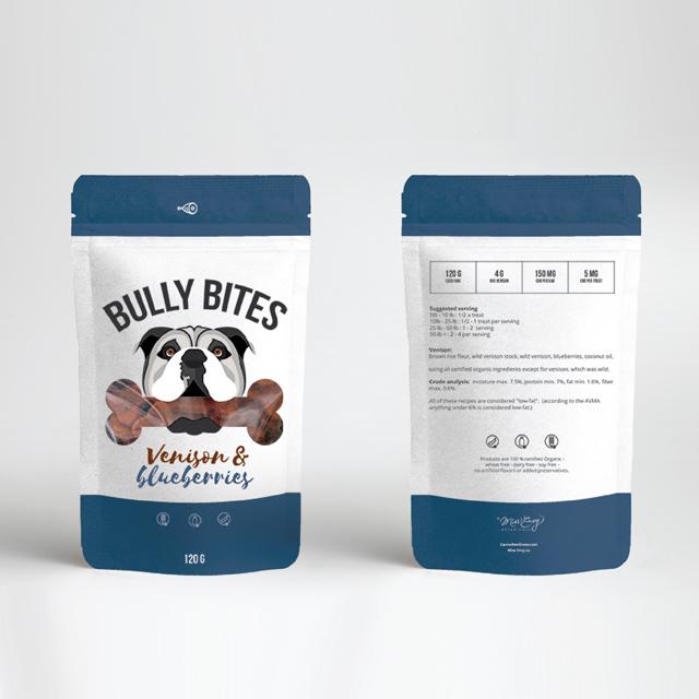 Bully Bits venison & Blueberry CBD for Dogs Treats