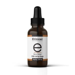 bacon flavoured cbd oil for dogs big dogs by ethical botanicals product image