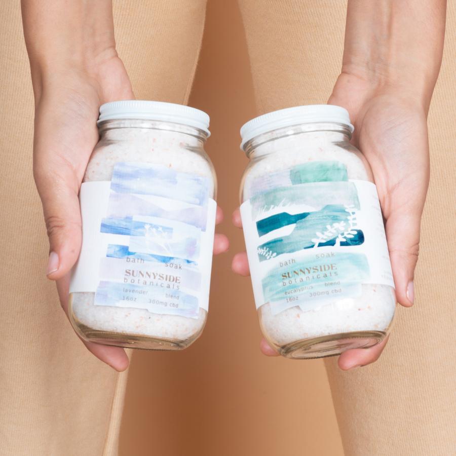 CBD Bath Soak | Eucalyptus Blend | Sunnyside Botanicals