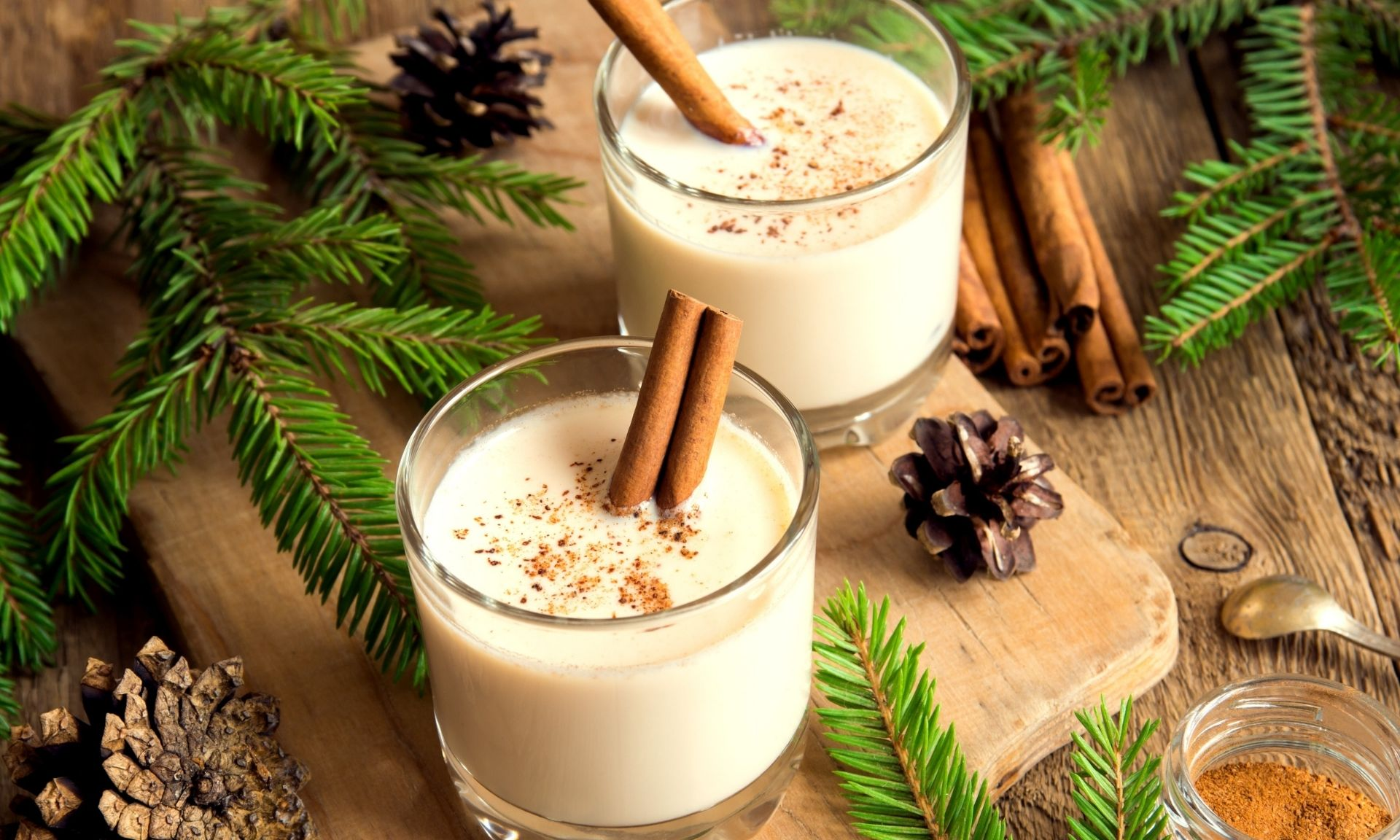 cbd eggnog recipe, image of prepared drink