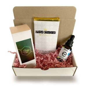 visualizes indulge yourself gift basket, product image