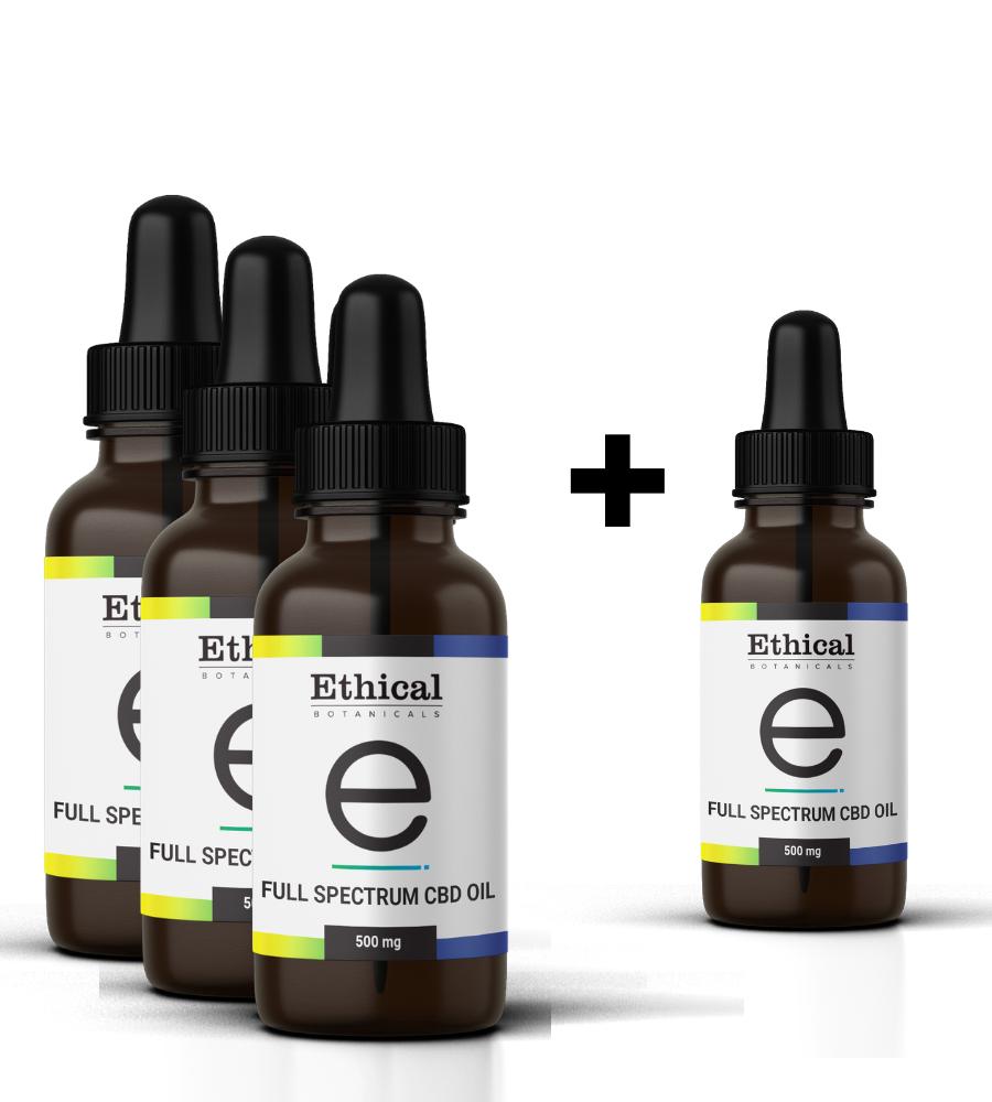 90-Day Supply Pack   Full Spectrum CBD Oil   Ethical Botanicals