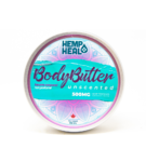visualizes packaging for unscented cbd body butter by hempheal