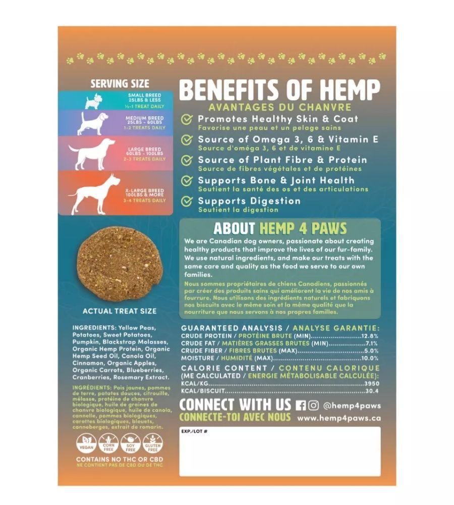 Hemp Dog Treats | Pumpkin | Hemp4Paws