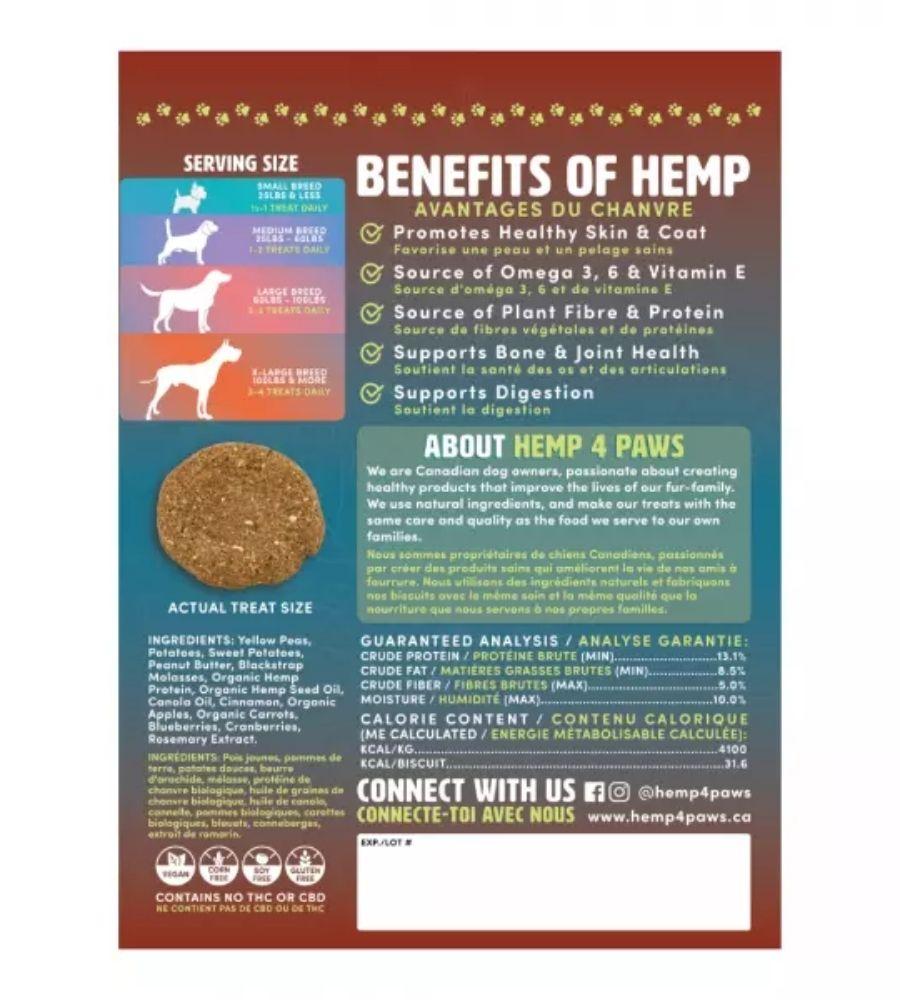 Hemp Dog Treats | Peanut Butter | Hemp4Paws