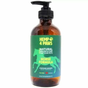 visualizes packaging of CBD horse formula by Hemp4Paws
