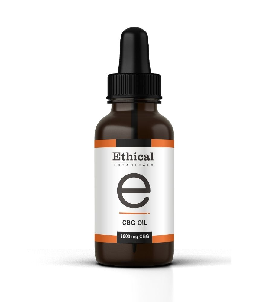 visualizes packaging of CBG oil by Ethical Botanicals
