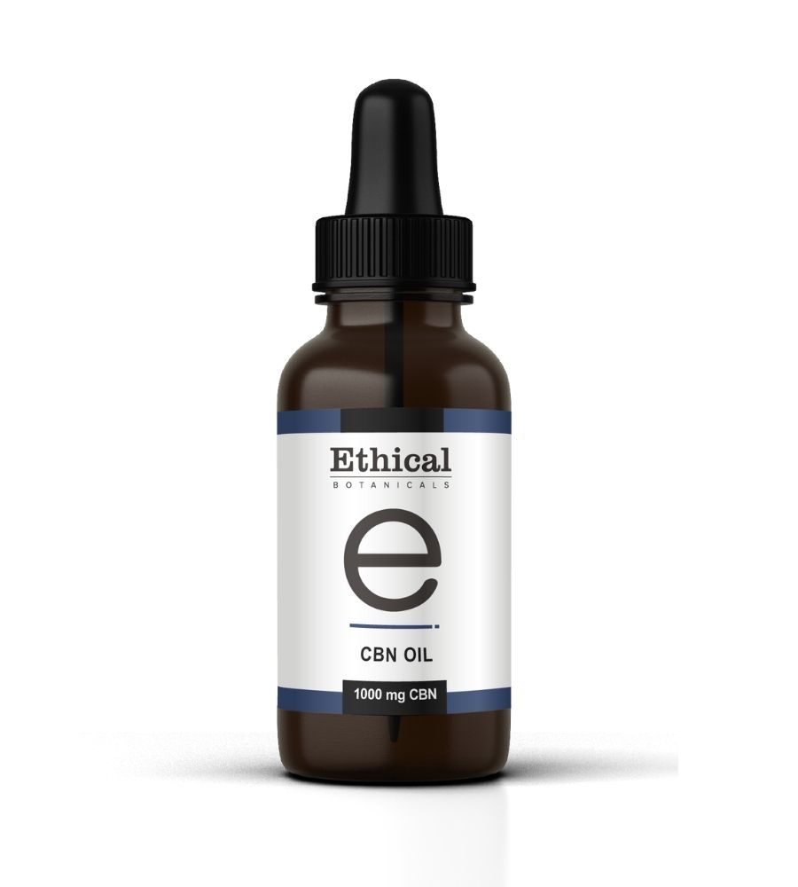 visualizes product packaging for CBN oil by Ethical Botanicals